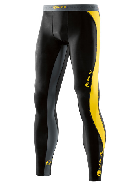 Skins DNAmic Long Tights Men black/citron
